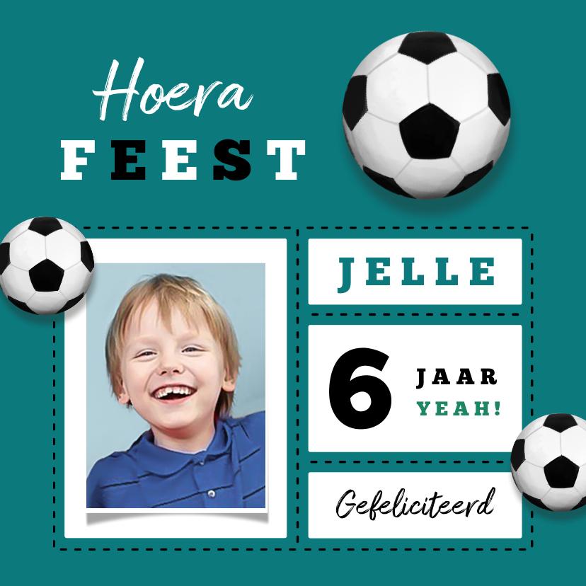 Verjaardagskaarten - Verjaardagskaart stoer voetbal foto