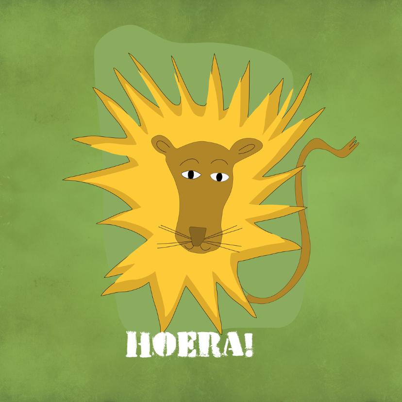 Verjaardagskaarten - Verjaardagskaart  Stoere Leeuw