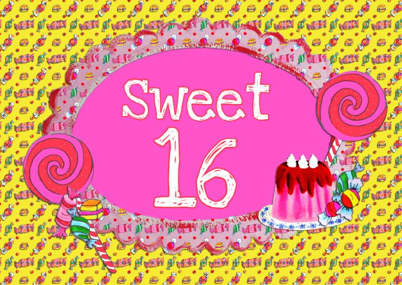 Verjaardagskaart Sweet 16 PA 1