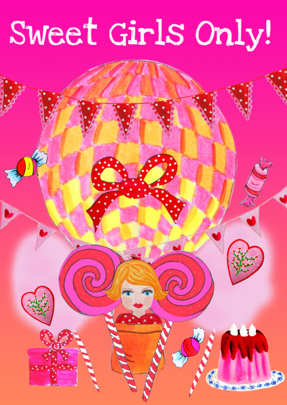 Verjaardagskaarten - Verjaardagskaart Sweet Girl PA
