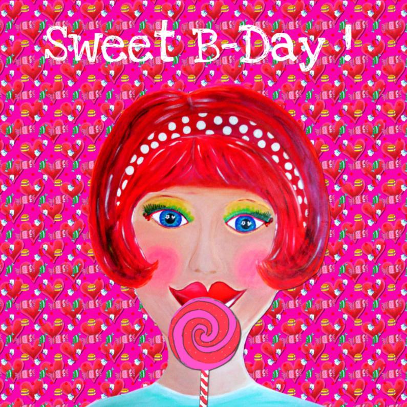 Verjaardagskaarten - Verjaardagskaart Sweet PA