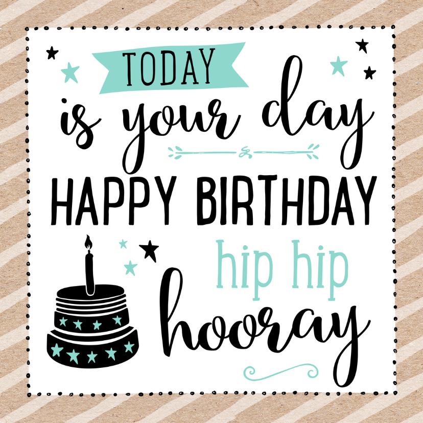 Verjaardagskaarten - Verjaardagskaart taart 99