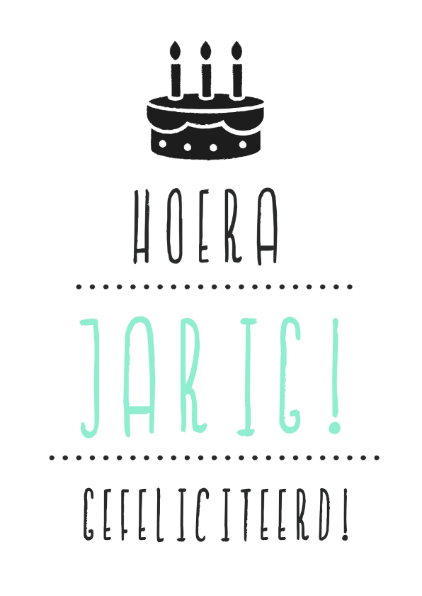 Verjaardagskaarten - Verjaardagskaart Taart  Hip