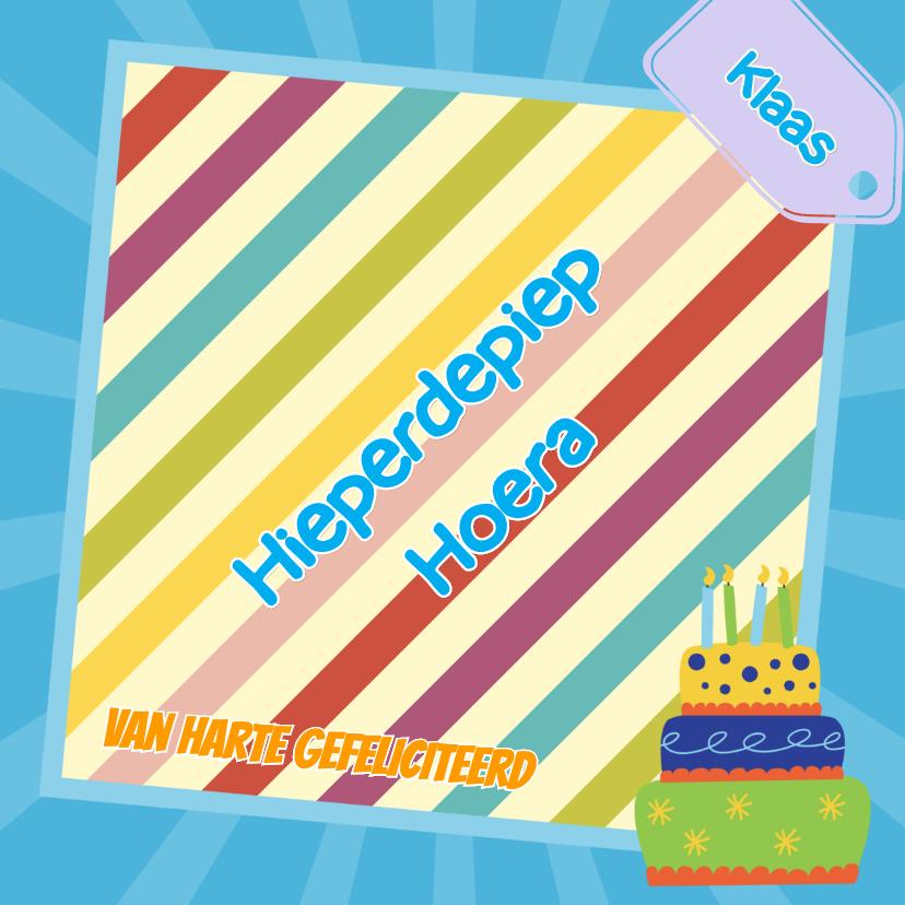 Verjaardagskaarten - Verjaardagskaart taart - JH