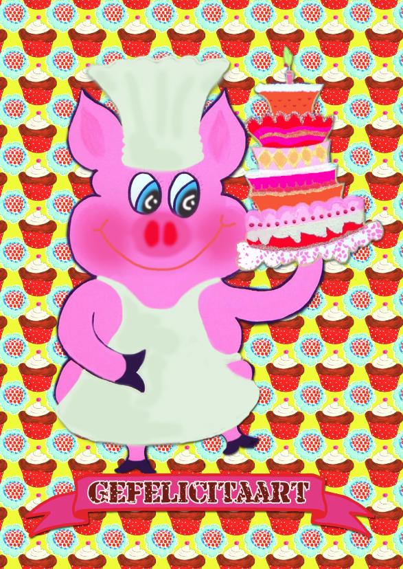 Verjaardagskaarten - Verjaardagskaart Taart Tijd PA