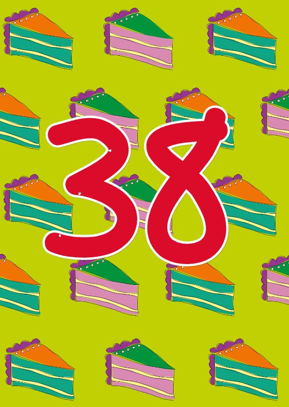 Verjaardagskaarten - Verjaardagskaart taarten  - SZ