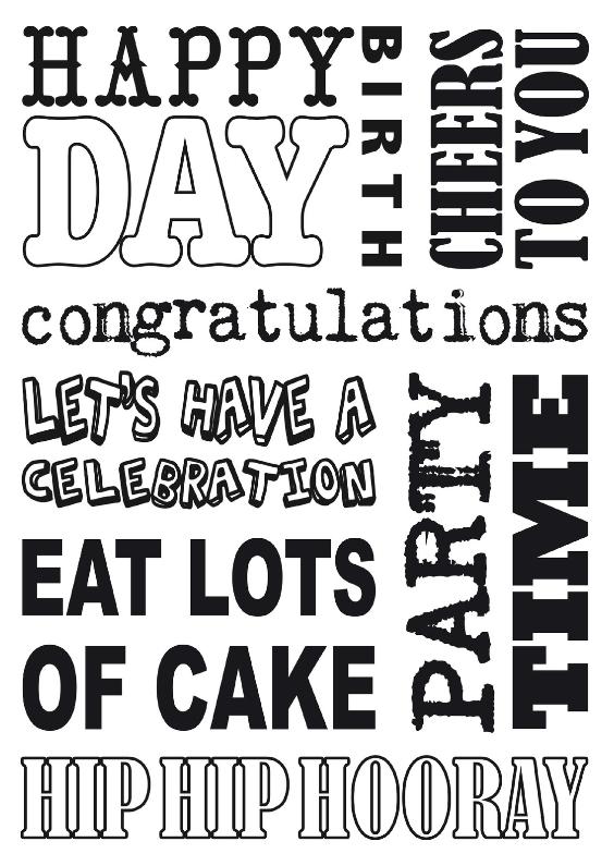 Verjaardagskaarten - Verjaardagskaart tekst zwartwit stoer
