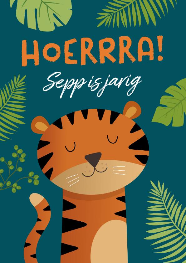 Verjaardagskaarten - Verjaardagskaart tijger