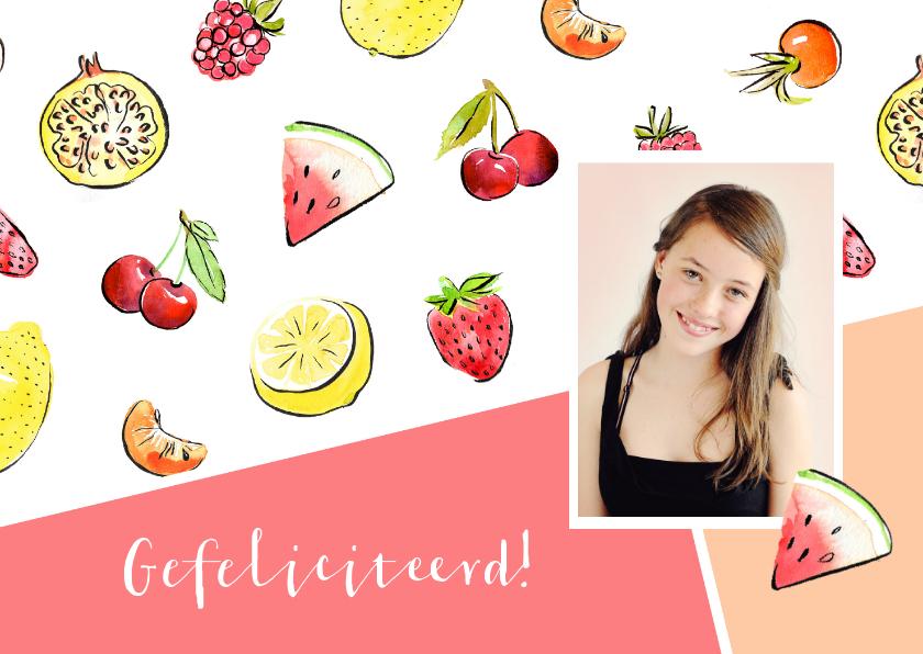 Verjaardagskaarten - Verjaardagskaart tropisch fruit