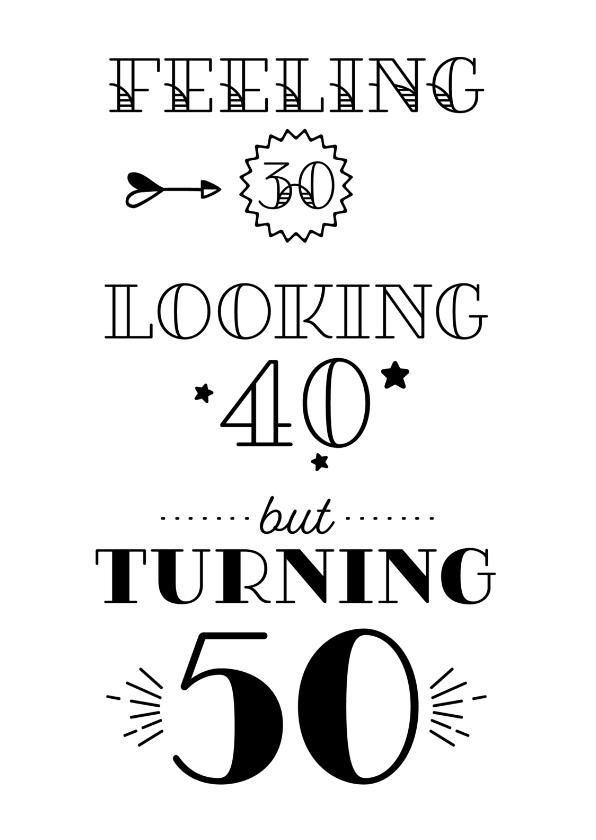 50 jaar verjaardag kaart Verjaardagskaart turning 50 | Kaartje2go 50 jaar verjaardag kaart