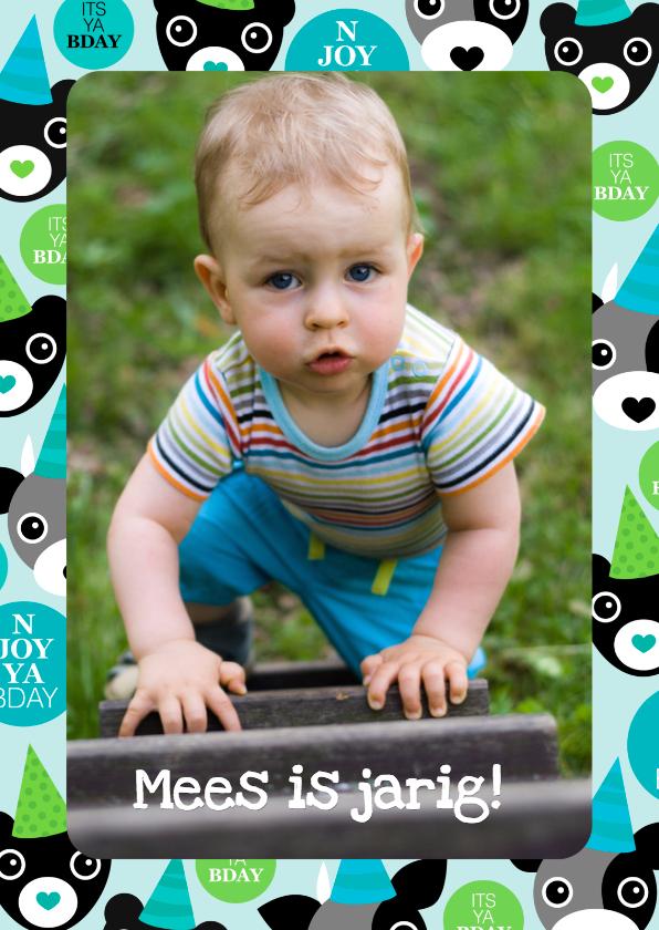 Verjaardagskaarten - Verjaardagskaart Verjaardagsfiguren Foto
