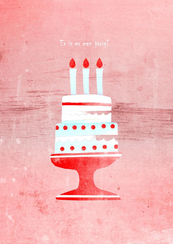 Verjaardagskaarten - Verjaardagskaart Verjaardagstaart