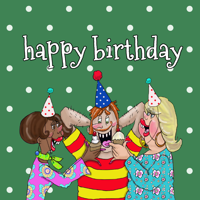 Verjaardagskaarten - Verjaardagskaart Verwennen