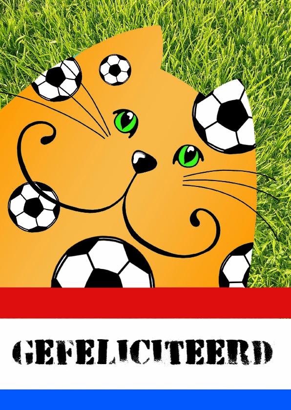 Verjaardagskaarten - Verjaardagskaart voetballen