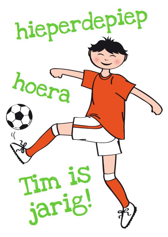 Verjaardagskaarten - Verjaardagskaart voetballer