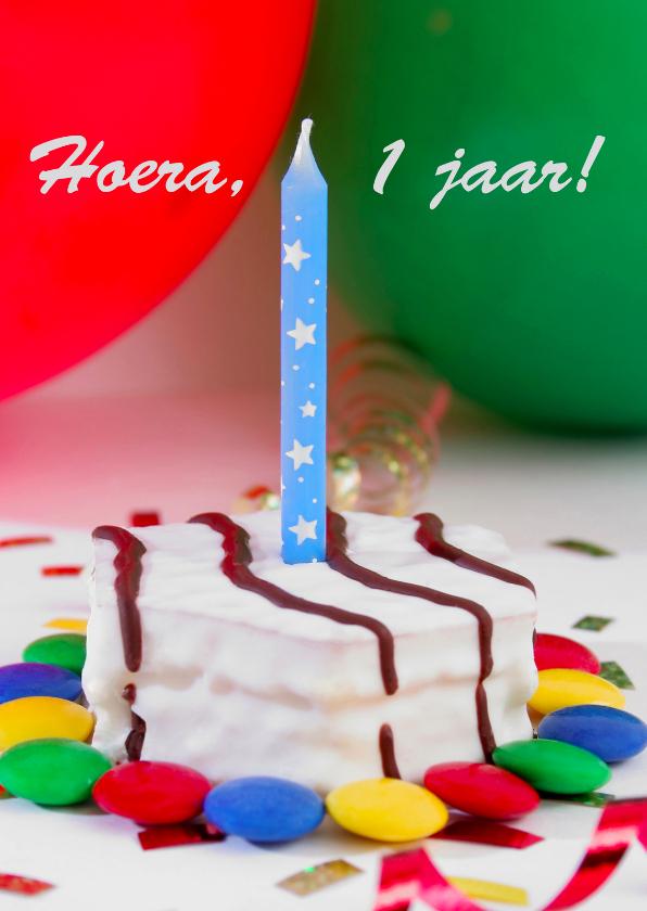 Verjaardagskaarten - Verjaardagskaart voor 1e verjaardag