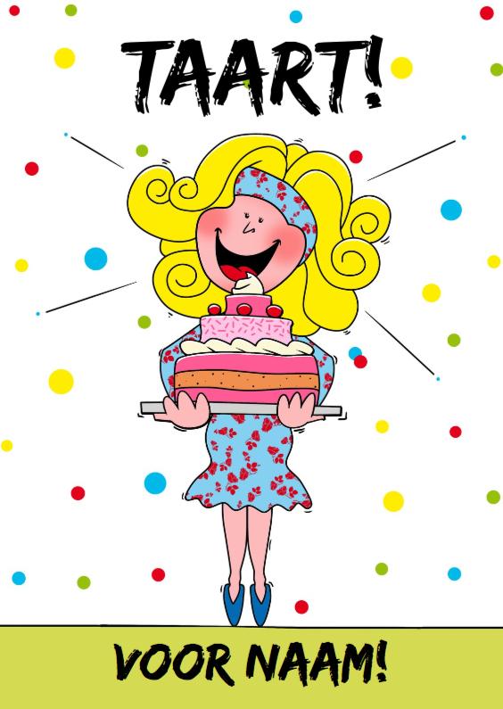 Verjaardagskaarten - Verjaardagskaart voor meisje met lekkere taart