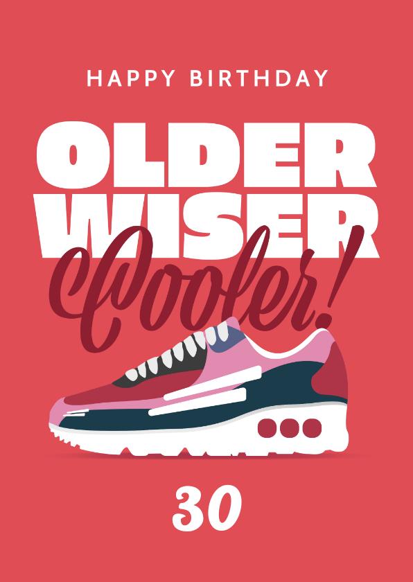 Verjaardagskaarten - Verjaardagskaart vrouw sneakers sport happy birthday