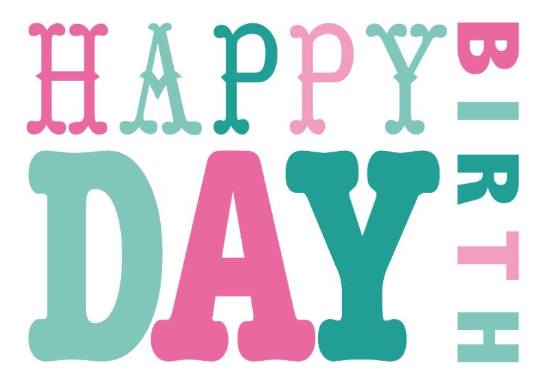 Verjaardagskaarten - Verjaardagskaart vrouw tekst roze groen