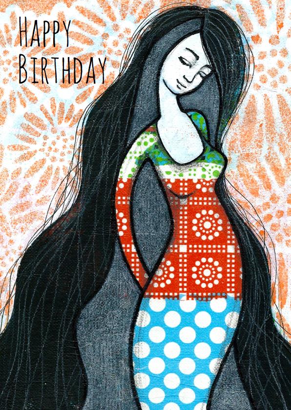 Verjaardagskaarten - Verjaardagskaart Vrouwelijk