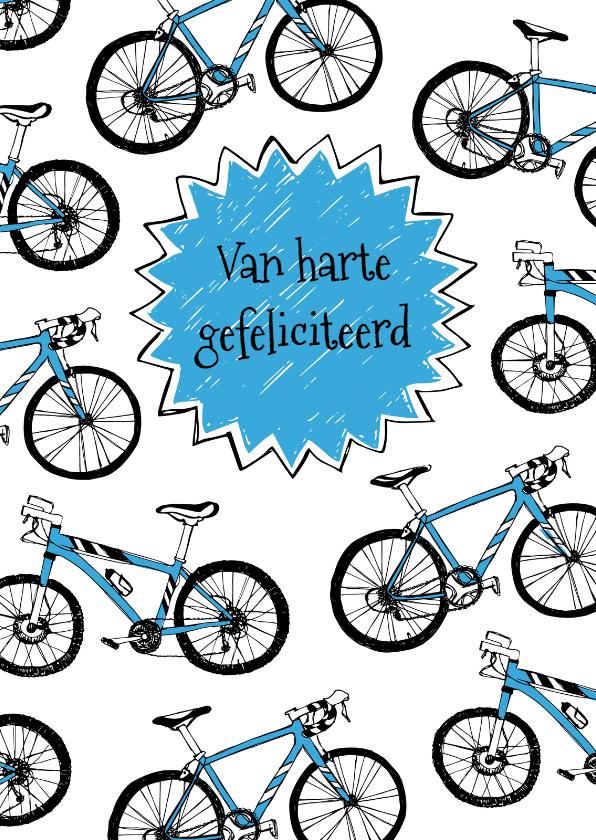 Verjaardagskaarten - Verjaardagskaart wielrennen