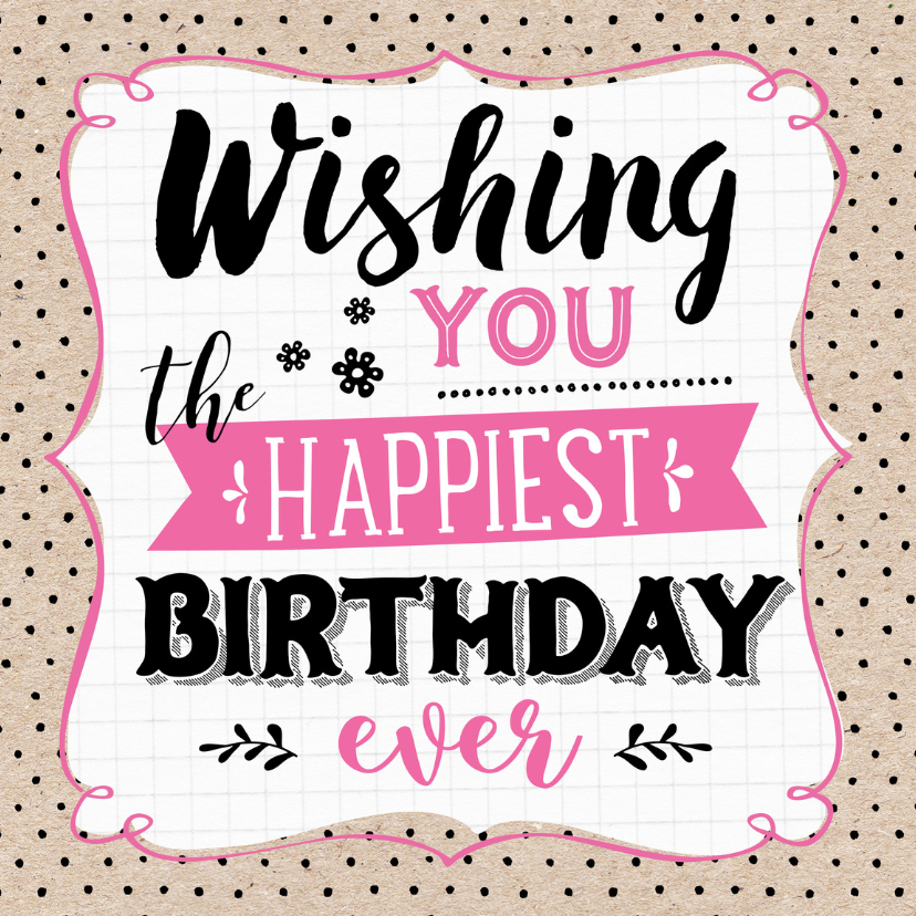 Verjaardagskaarten - Verjaardagskaart Wishing You