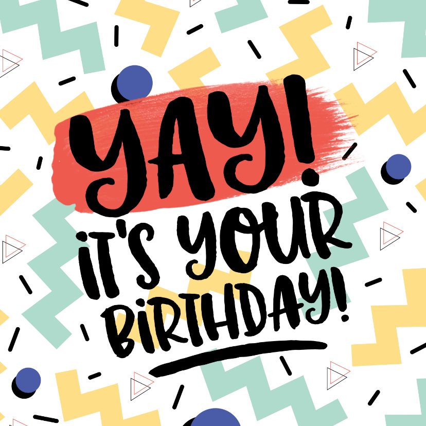 Verjaardagskaarten - Verjaardagskaart Yay it's your birthday! graffiti man