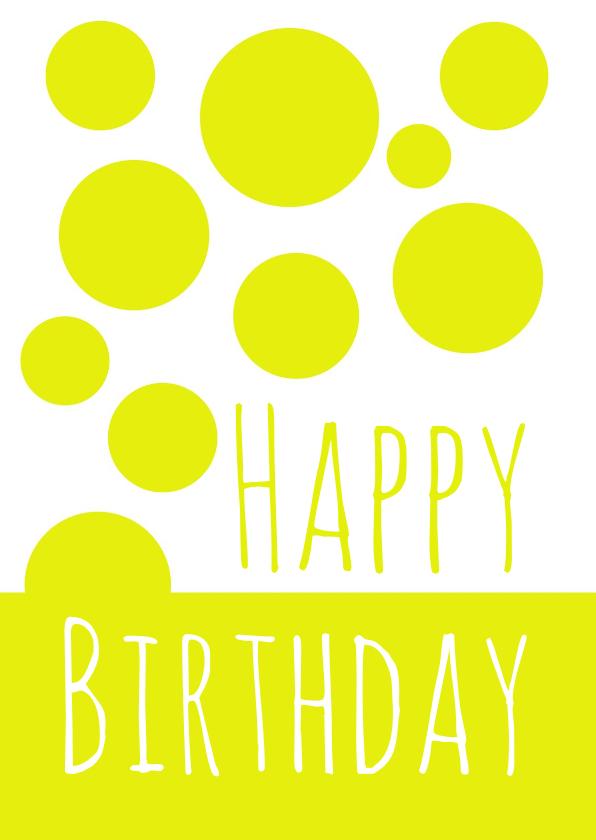 Verjaardagskaarten - Verjaardagskaart Yellow