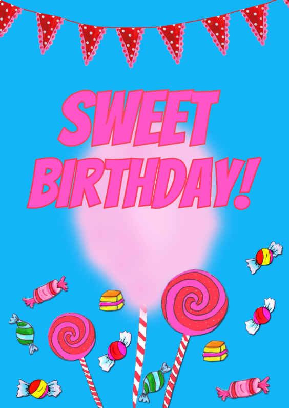 Verjaardagskaarten - Verjaardagskaart Zoet PA