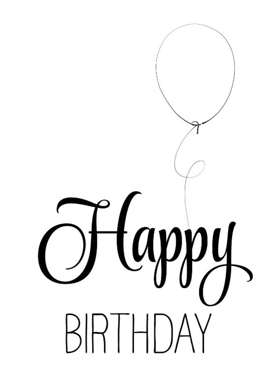 Verjaardagskaarten - Verjaardagskaart ZwartWit SG