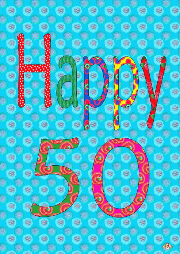 Verjaardagskaarten - Verjaardagskaart50 PA