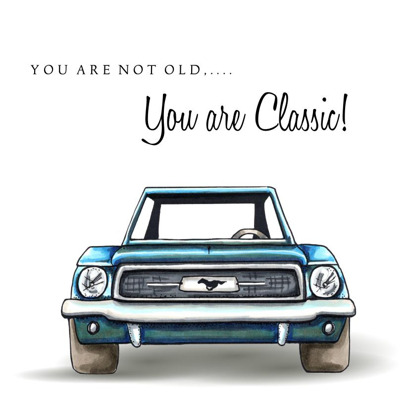 Verjaardagskaarten - Verjaardagskaarten Classic Mustang