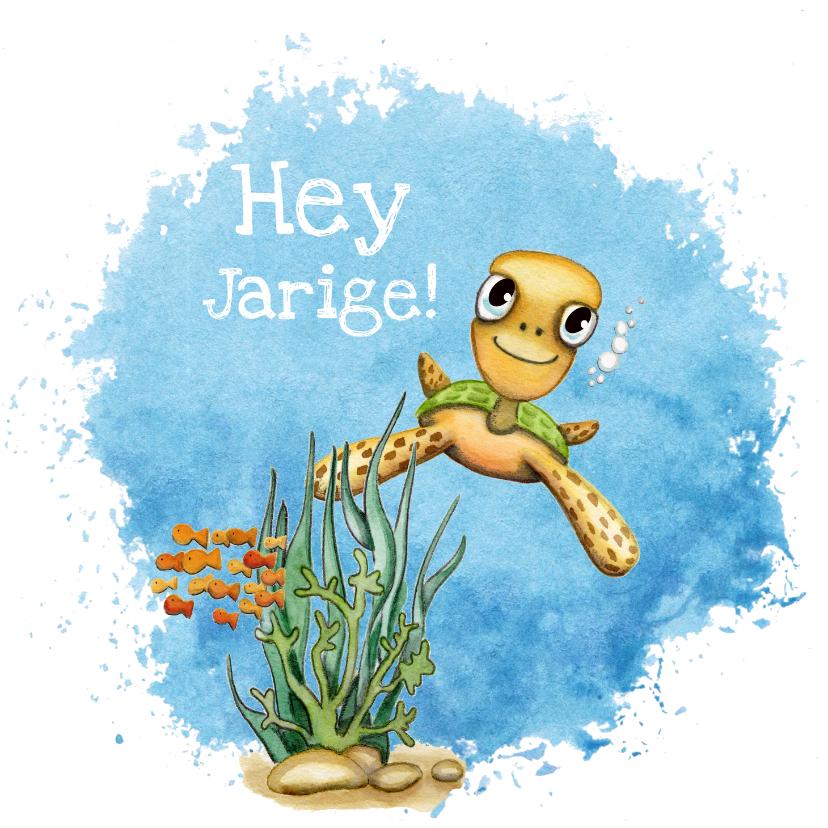 Verjaardagskaarten - Verjaardagskaarten met schildpad