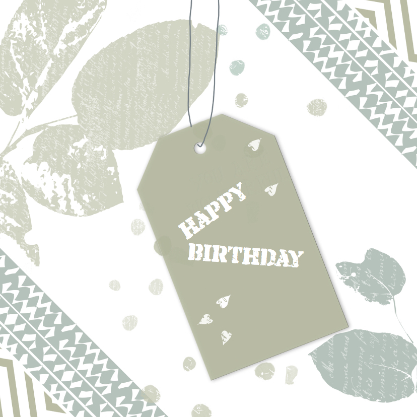 Verjaardagskaarten - Verjaardagskaarten speels label