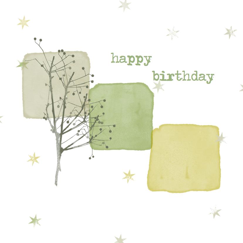 Verjaardagskaarten - Verjaardagskaarten waterverf -YO