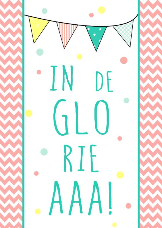 Verjaardagskaarten - Verjaardagskaartje In de gloria