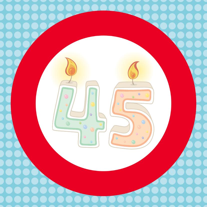 Verjaardagskaarten - Verkeersbordkaart Zelf invullen 3