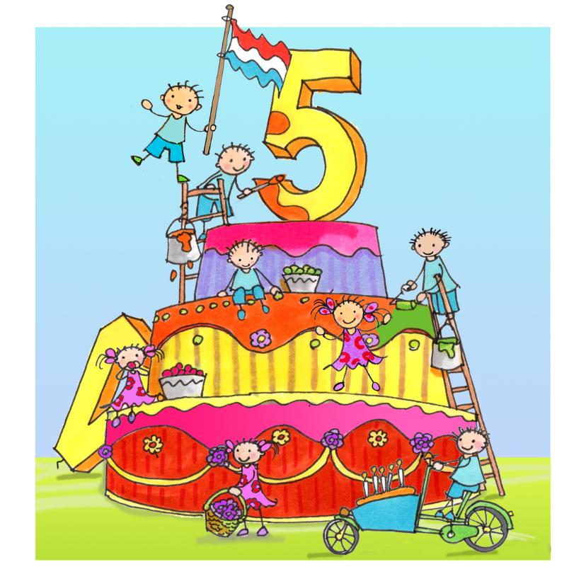 Verjaardagskaarten - vijf jaar Anet Illustraties