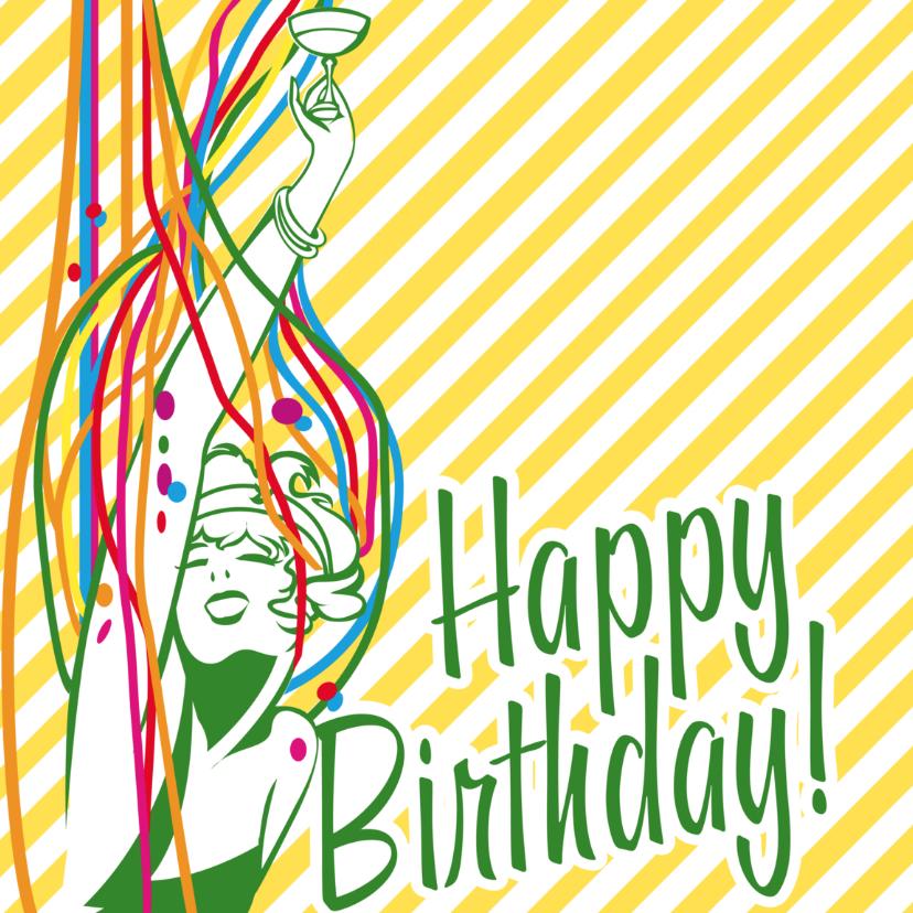 Verjaardagskaarten - Vintage Ad Happy Birthday