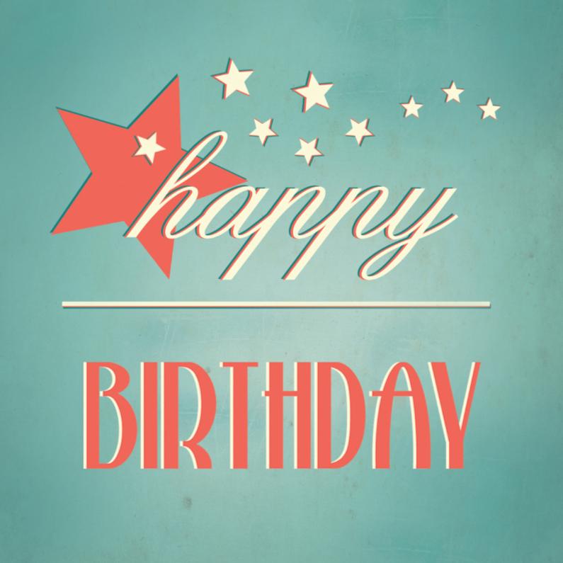 Verjaardagskaarten - Vintage birthday