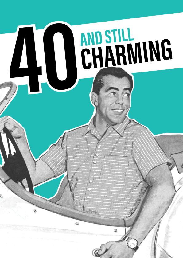 Verjaardagskaarten - Vintage man 40