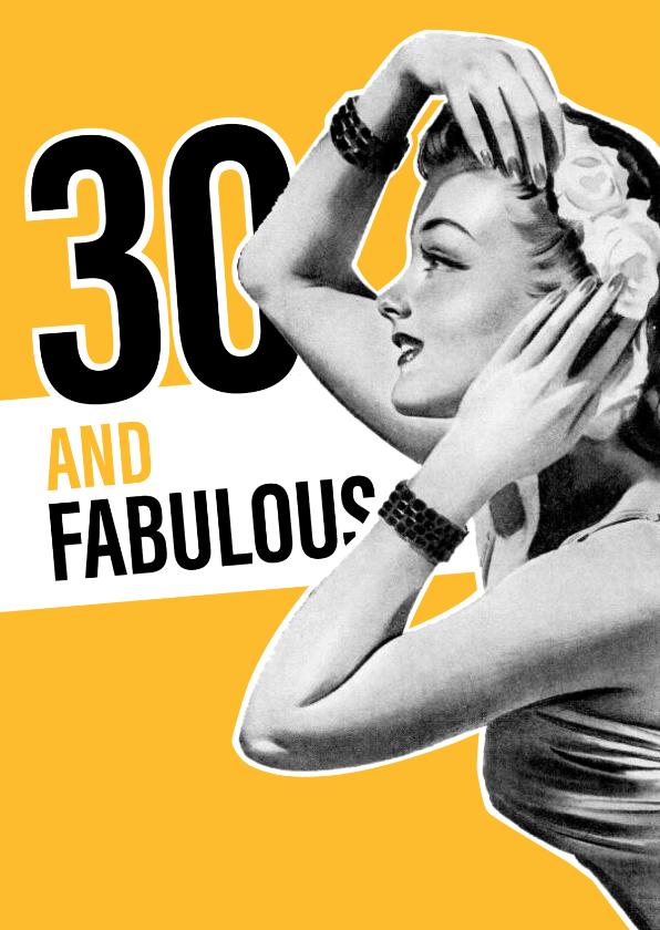Verjaardagskaarten - Vintage vrouw 30