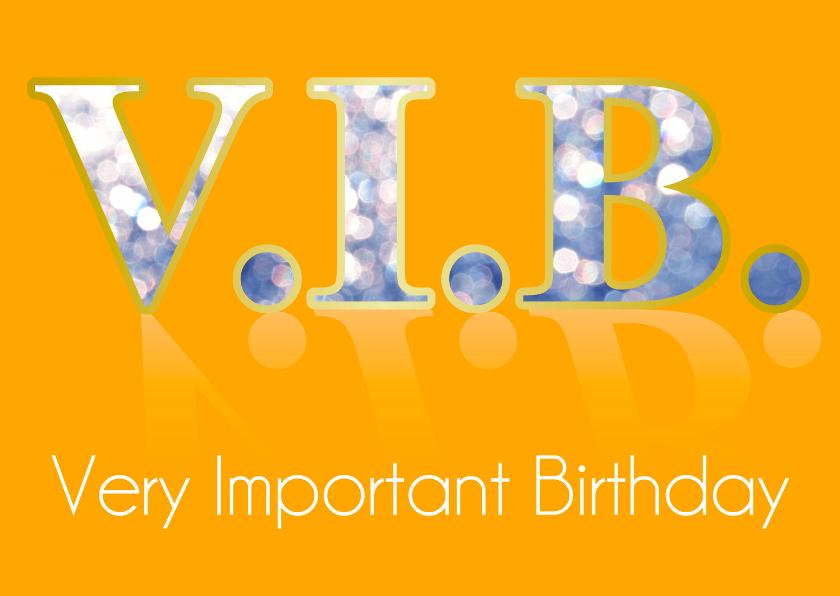 Verjaardagskaarten - VIP Verjaardagkaart Birthday