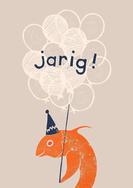 Verjaardagskaarten - Vis is jarig