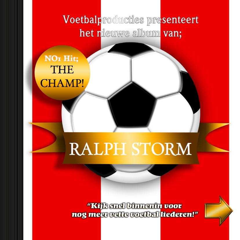 Verjaardagskaarten - voetbal CD kaart a zelf invullen