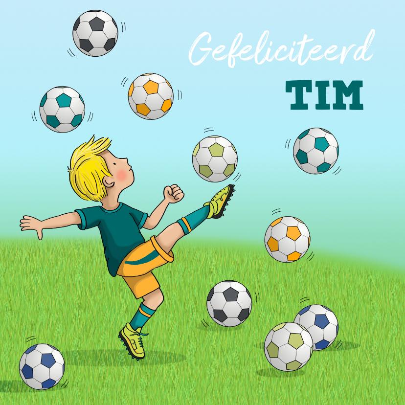 Verjaardagskaarten - Voetbal kaart Anet Illustraties