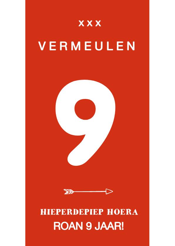 Verjaardagskaarten - Voetbal verjaardagskaart rugnummer met leeftijd - amsterdam