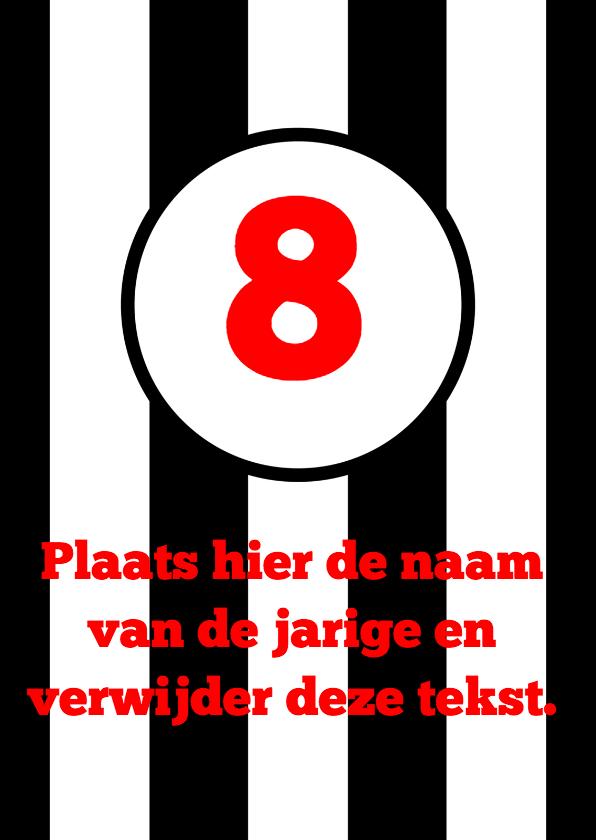 Verjaardagskaarten - Voetbal verjaardagskaart zwart