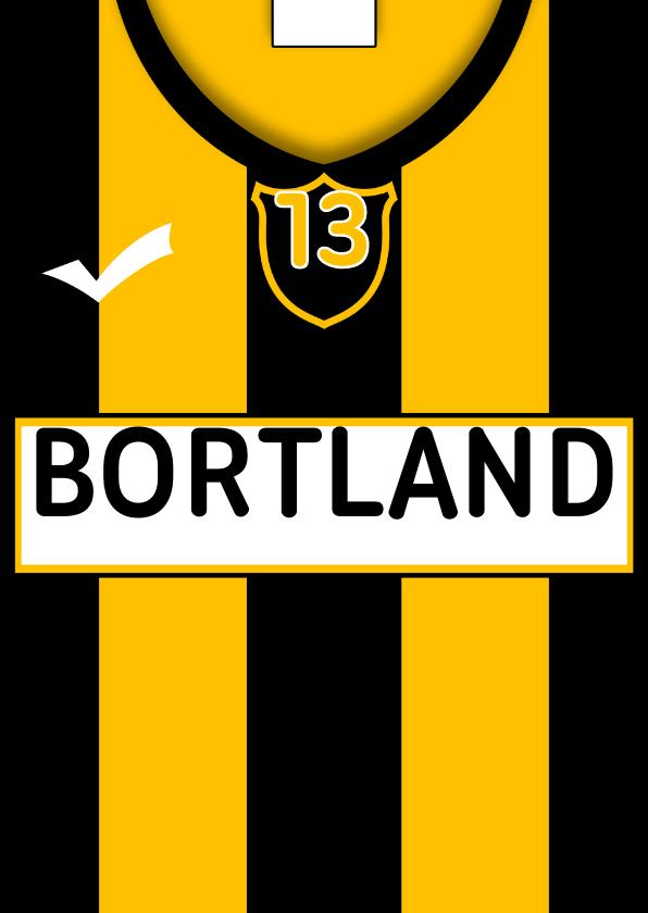 Verjaardagskaarten - Voetbalshirt zelf invullen V