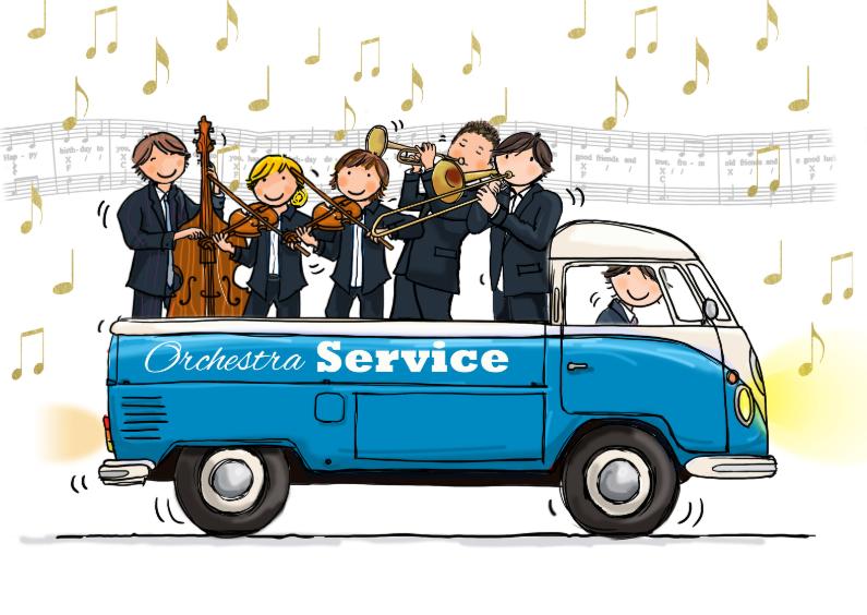 Verjaardagskaarten - Volkswagen Pickup Orkest